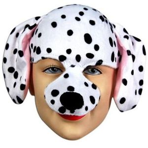 Dalmatian Half Face Animal Mask On Headband