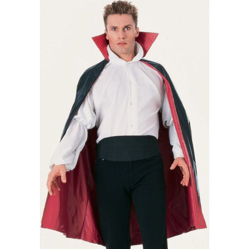 Black & Red Cape Ex Hire Sale Free Size Halloween Fancy Dress Costume