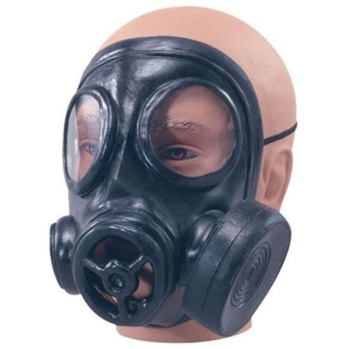 Rubber Gas Mask Fancy Dress Costume Accessory