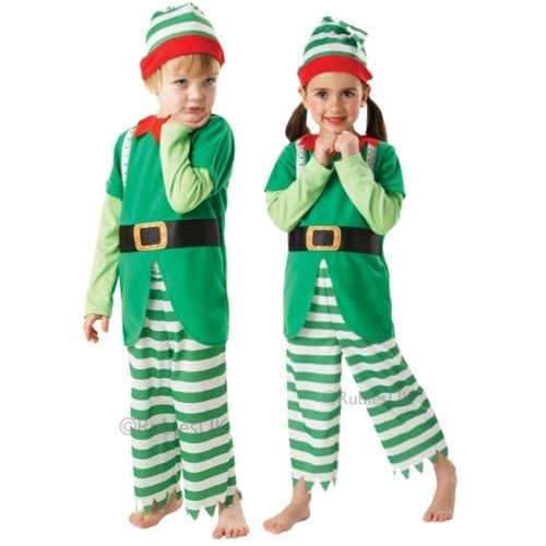 Childs Helpful Elf Christmas Fancy Dress Costume Age 7-8 Years