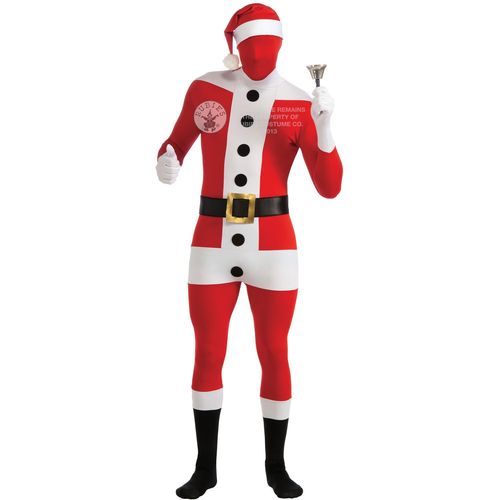 Santa Skin Suit Christmas Fancy Dress Costume Size XL