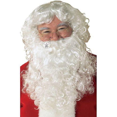 Classic Santa Beard & Wig Set Christmas Fancy Dress Costume Accessory