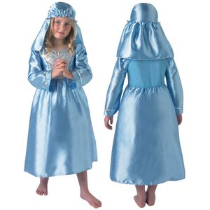 Childs Nativity Mary Costume Age 5-6 Years