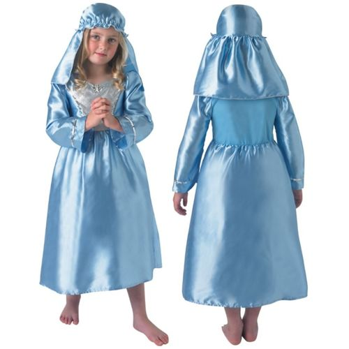 Childs Nativity Mary Costume Christmas Fancy Dress Age 5-6 Years