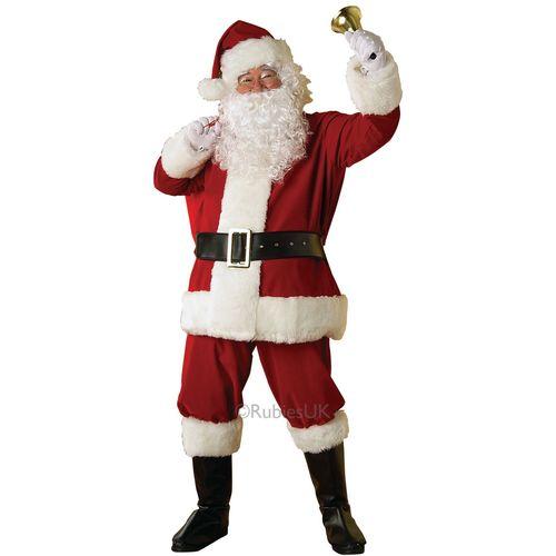 Regal Plush Santa  Christmas Fancy Dress Costume One Size Fits Most