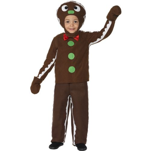 Childs Little Gingerbread Man Christmas Fancy Dress Costume Age 7-9 Years