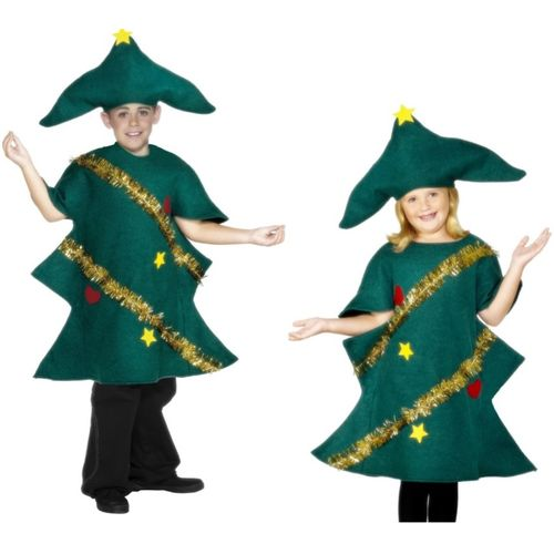 Childs Christmas Tree Fancy Dress Costume Age 10-12 Years