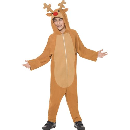 Childs Reindeer All In One Christmas Fancy Dress Costume Age 7-9 Years
