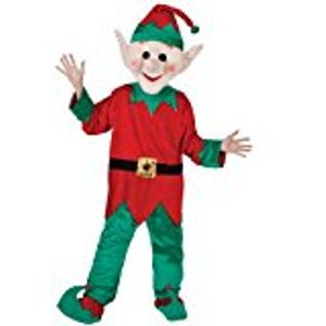Elf Santas Helper Mascot Costume