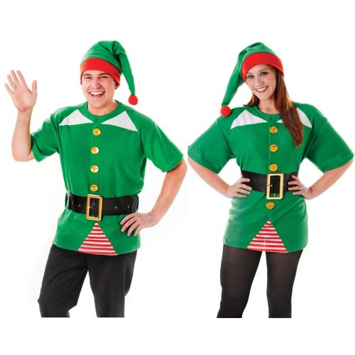 Jolly Elf Xmas Kit Fancy Dress Funny Christmas Outfit Costume