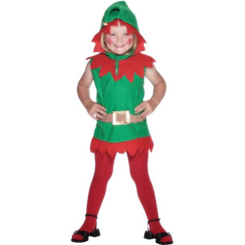 Childs Elf Christmas Fancy Dress Costume Toddler Age 2-3 Years