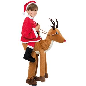 Childs Step In Santa Ride A Reindeer Costume One Size