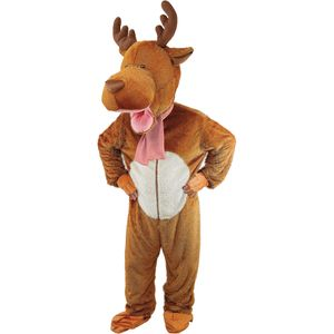 Childs Reindeer Big Head Mascot Costume Age 9-11 Years