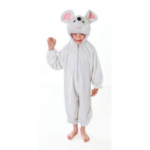Childs Plush White Mouse Costume Age 5-7 Years S