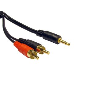 Stereo Phono (M) to 3.5mm (M) Audio Cable
