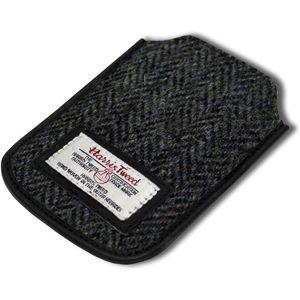 Harris Tweed Phone Case: Grey/Black Herringbone