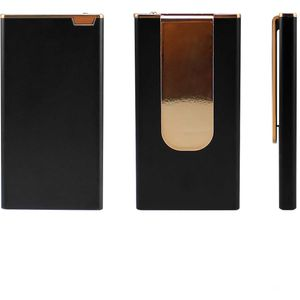 Ultra Compact Power Bank Charger Black and Gold
