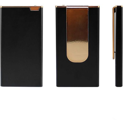 White slim rectangle with gold clip