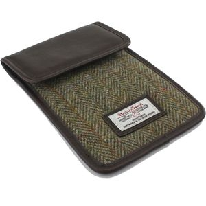 Harris Tweed Mini Tablet Sleeve Case: Hunter Green