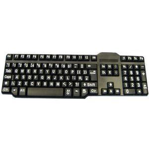 Easy2Use Keyboard - Large White Print Black Keys