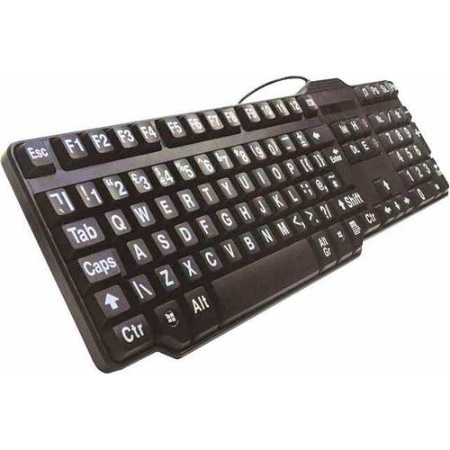 Easy Use Classic Keyboard  (Large Print for Visually Impaired)