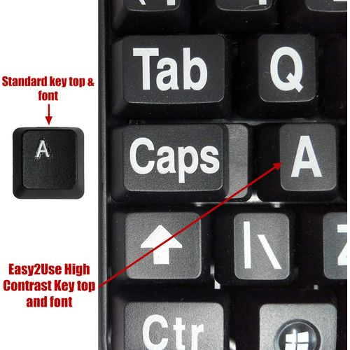 Easy2Use Classic Keyboard  (Large Print for Visually Impaired)