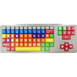 Easy2Use Kids High Contrast PC Keyboard (Lower Case Large Keys)