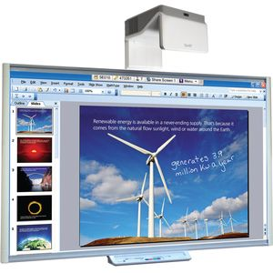 SMART Board M685 with EB-675W UST Projector