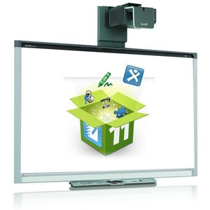 "SMART Board SB880 77"" with EB-670 projector"
