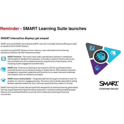 SMART Learning Suite, Notebook, amp and Lesson Activity Builder software