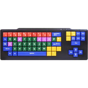 Colour Coded Kids Keyboard - Large Keys