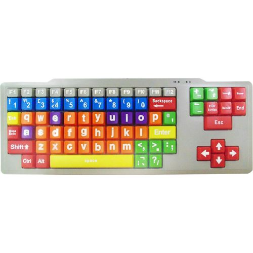 Kids High Contrast PC Keyboard (Lower Case Large Keys)