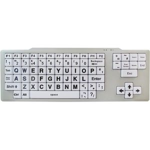Visually Impaired Keyboard (Hi Vis Black & White)