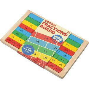 Wooden Maths Learning Fractions Board