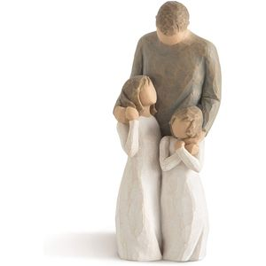Willow Tree My Girls Figurine (Father with Daughters)