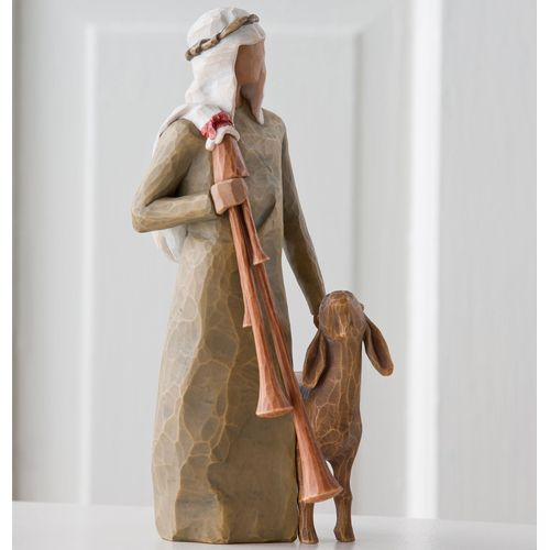 Willow Tree Nativity Zampognaro Shepherd with Bagpipes Figurine 27183