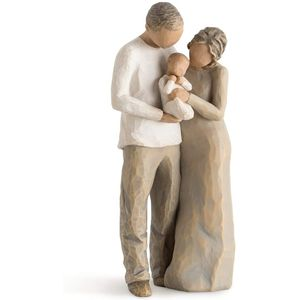 Willow Tree We Are Three Figurine (Dad Mum & Baby)