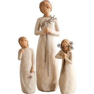 Willow Tree Figurines Set Mother with Two Daughters Option 1