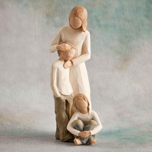 Willow Tree Mother & Son with Daughter Figurine Set 26102 26224