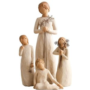 Willow Tree Figurines Set Mother with Three Daughters