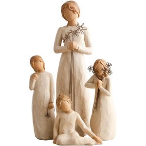 Willow Tree Set Mother with Three Daughters