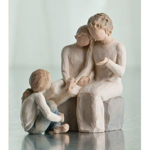 Willow Tree Figurines Set Grandmother with Two Granddaughters Option 2