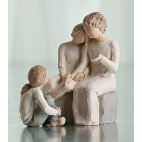 Willow Tree Grandmother with 2 Granddaughters Figurine Set (Option 2) 26224 26244