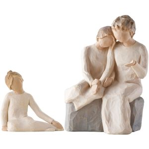 Willow Tree Figurines Set Grandmother with 2 Granddaughters Option 1