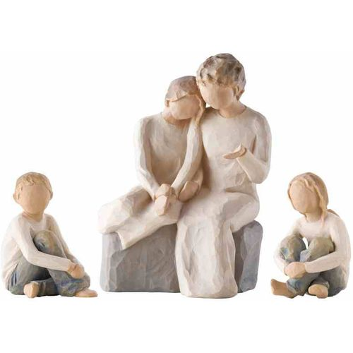 Willow Tree Grandmother & Three Grandchildren Figurine Set (Option 1) 26224 26228  26244