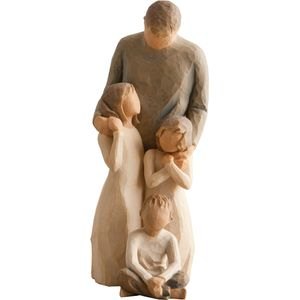 Willow Tree Figurines Set Father with Son and Two Daughters Option 1