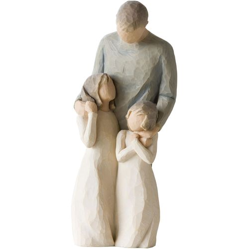 Willow Tree Father with Son & 2 Daughters Figurine Set 26226 26232