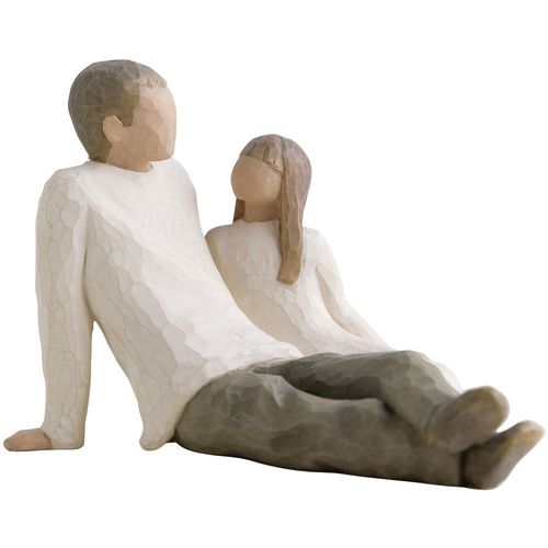 Willow Tree Father with Daughter & Son Figurine Set 26031 26226