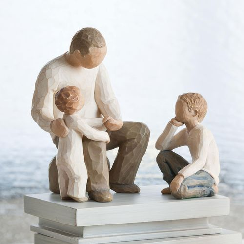 Willow Tree Figurine Set - Grandfather with 2 Grandchildren 26058 26227