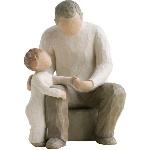 Willow Tree Figurine Set - Grandfather with 2 Grandchildren 26058 26227